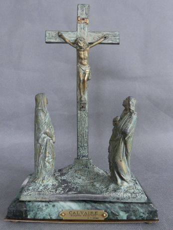 Krzyż KRUCYFIKS z figurami Świętych KALWARIA