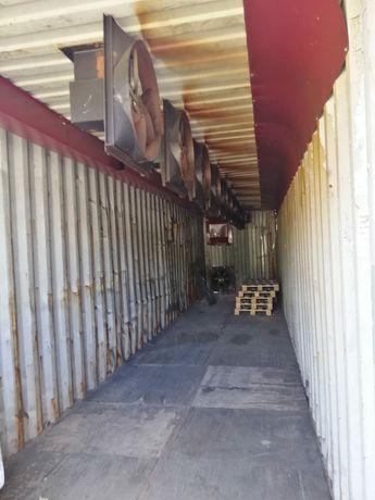 Конвекционная сушильная камера для древесины, контейнер 40 фут/морской