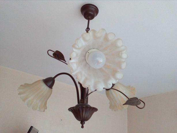 lampa wraz z kinkietami