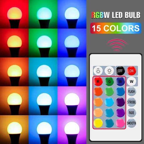 Цветная умная смарт лампа Led RGB 16 кольорів на ДУ