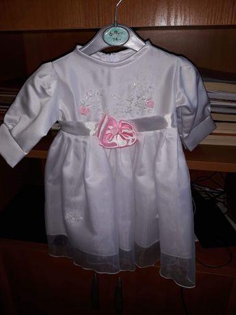 Sukienka na chrzest +zestaw 62/68