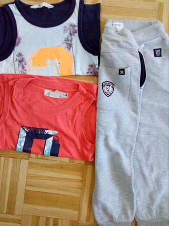 Spodnie dresowe i dwie koszulki 104, 98 HM