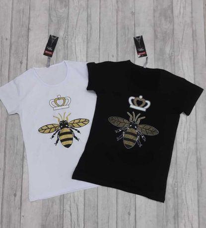 Bluzka Biała z Pszczołą