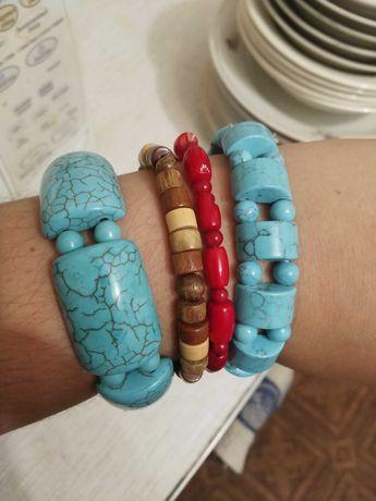 Браслеты ожерелья из натуральных материалов