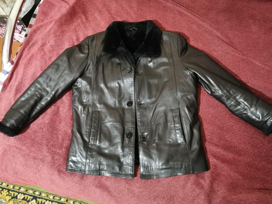 Мужская кожаная куртка зимняя Сумы - изображение 1