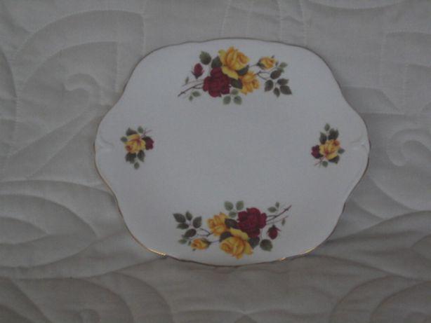 Porcelana paterka na ciastka róże 24cm /anglia/ PREZENT