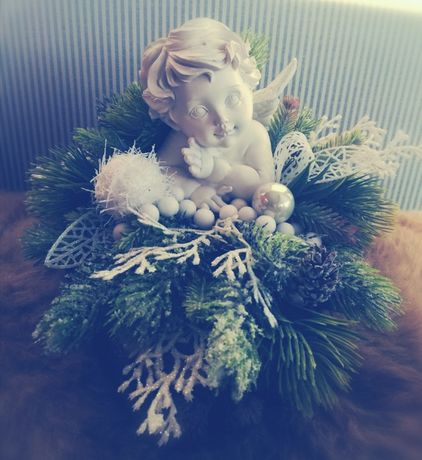 Ozdoby WIANEK stroik bożonarodzeniowy święta RĘCZNIE ROBIONE
