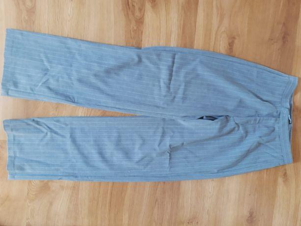 Spodnie materiałowe siwe