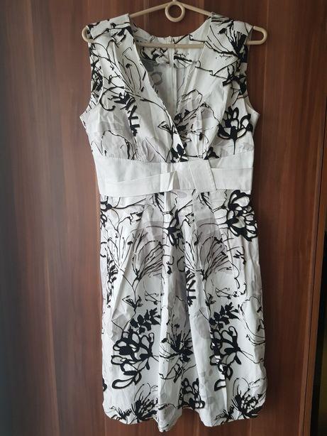NOWA piękna biała sukienka DE FACTO rozmiar 40 L