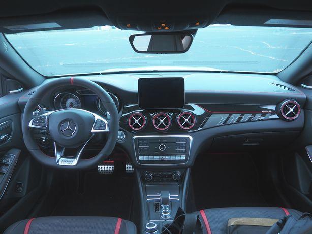 Mercedes w117 w156 cla gla amg konsola deska poduszki skóra nitka ORG