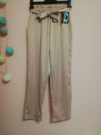 Spodnie satynowe NOWE L