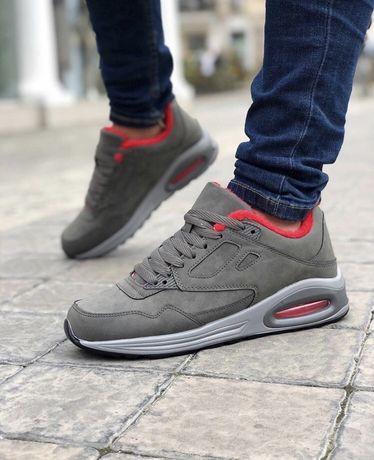 Распродажа Зимние Мужские Кроссовки на меху под Nike Air Max (40-45)