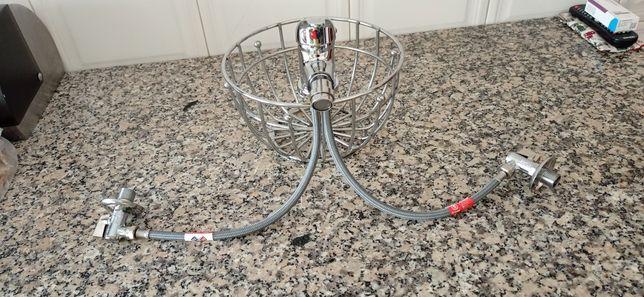Misturadora de bide com respetivos passadores de agua