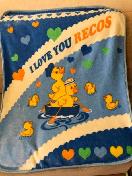 Детский плед теплый одеяло GANIX 125х100 Турция новый