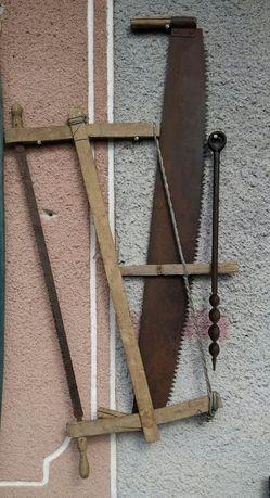 Садовый инвентарь: буравчик и лучковая пила (СССР)