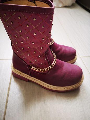Продам Happy walk кожаные, демисезонные сапожки для девочки, р 27-28.