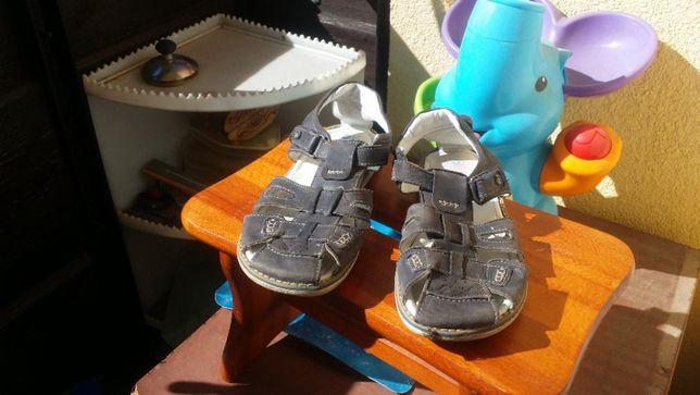 sandały dla dziewczyny czy chłopca skórzane mocne szyte rozmiar 36