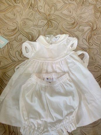 Платье с шортиками. Хорошо подходит для крещения