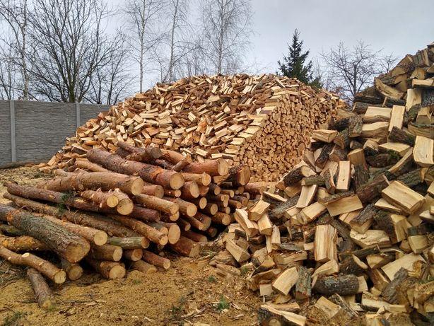 Drewno drzewo opałowe sosna, dąb, brzoza, akacja, buk,kominkowe