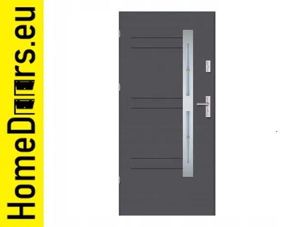 Drzwi zewnętrzne Nordica z kryształami ,,90'' Antracyt