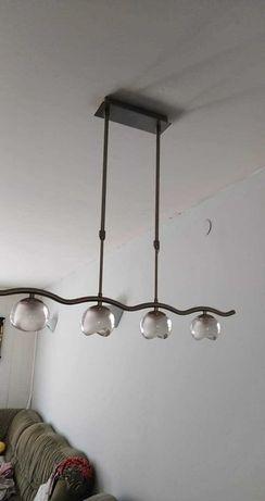 Lampa wisząca 4 klosze