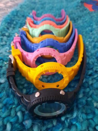 Relógio watx color com 9 braceletes