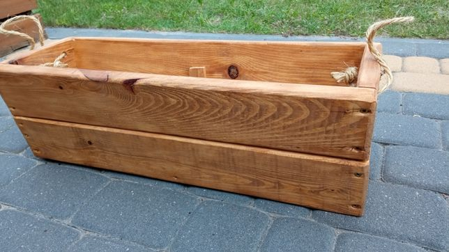 Doniczka drewniana impregnowana