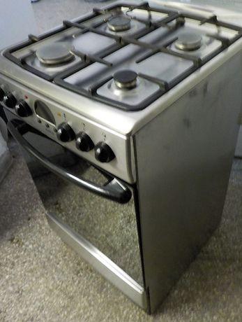 Kuchnia gazowa Amica, szer.50cm, inox, używana