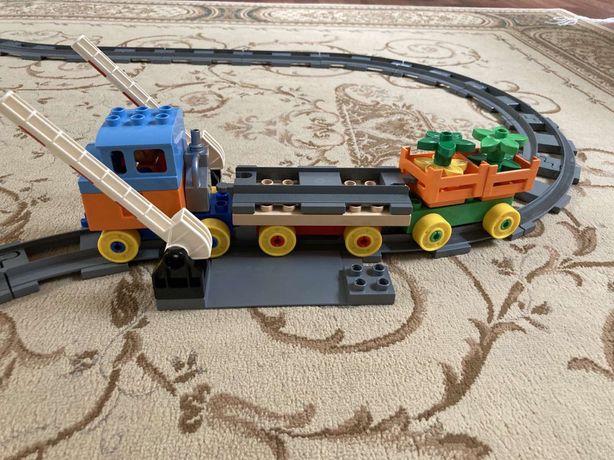 Железная дорога детская, лего дупло
