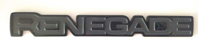 логотип водительской двери на черном фоне  JEEP RENEGADE
