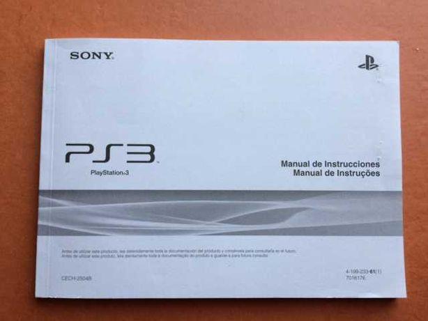 Manual de instruções Sony Playstation 3 PS3 (novo)