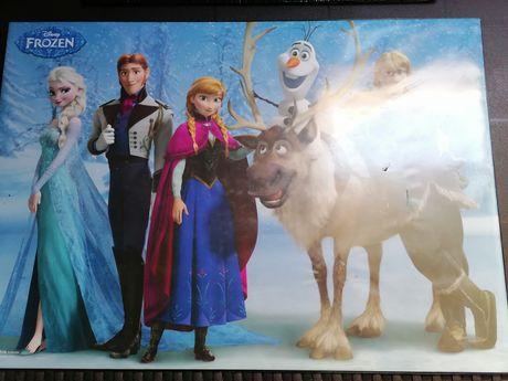 Proteção de mesa de escritório da Frozen