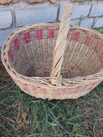 Корзина плетённая. Старовинная  корзина