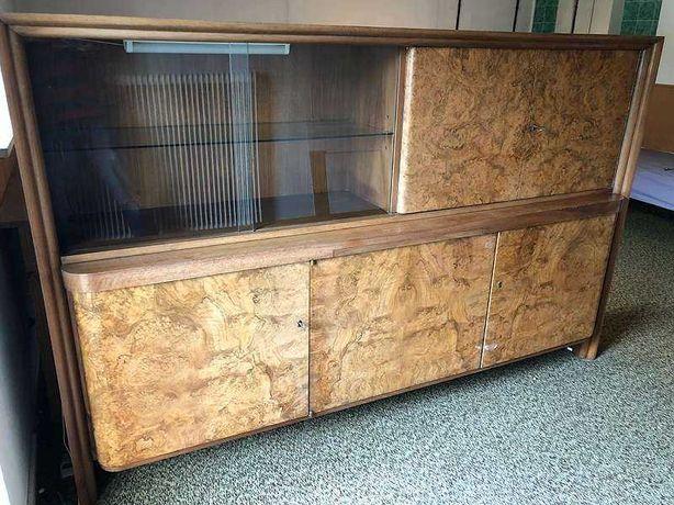 Stara witryna połysk mozaika jasna masywna drewniana Firmy May