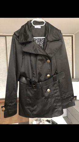 Czarny dwurzędowy płaszcz ORSAY