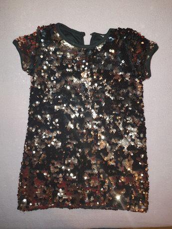 Sukienka w cekinami. Rozmiar 98/104