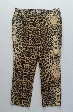 Eleganckie spodnie w panterkę r. 50