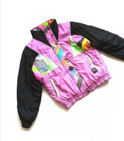 Винтажная зимняя теплая горнолыжная куртка винтаж ninety eight италия