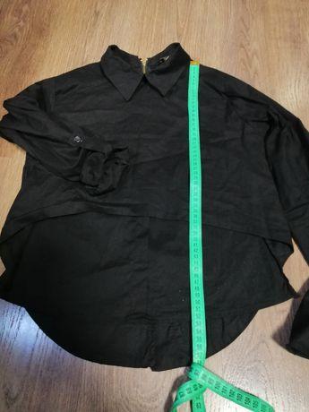 Чорна котонова рубашка(блуза)