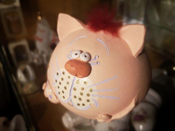 Копилка кот фигурка Декор интерьер розовый котик