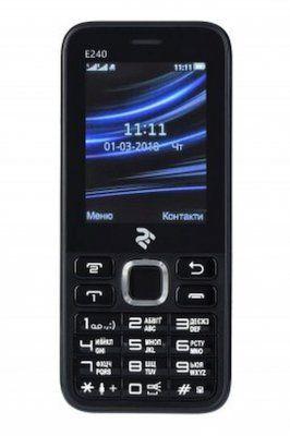 Мобильный телефон 2E E240 DS Black