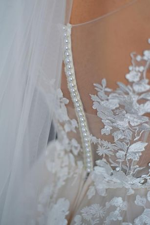 свадебное платье пудра