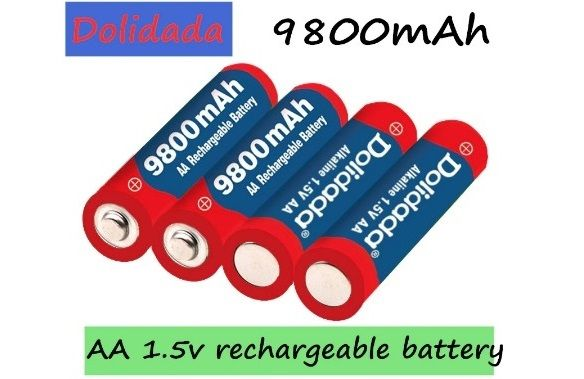 Аккумуляторные батарейки 9800 mAh (пальчиковые, 1,5v)