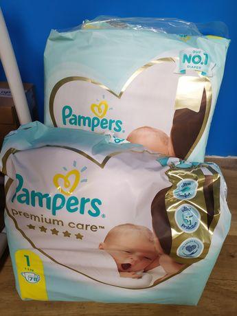 Sprzedam pampersy z firmy Pampers 1 całość za 80zl