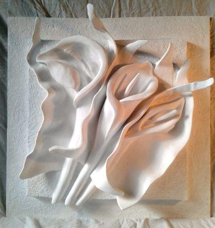 гипсовая лепнина, картина барельеф