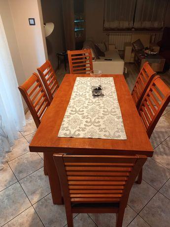 Stół rozkładany + krzesła 6szt