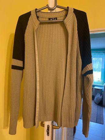 Sweter męski musztardowy