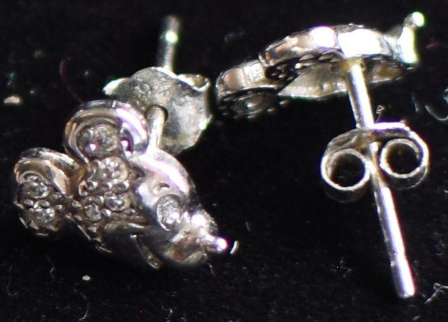 Kolczyki myszka Miki, srebro
