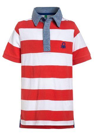 T-shirt polo paski BENETTON XS 4-5 lat stan bdb