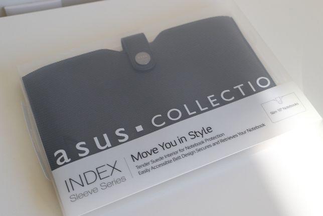 Mala portátil Asus Index 10 Sleeve em pele preta